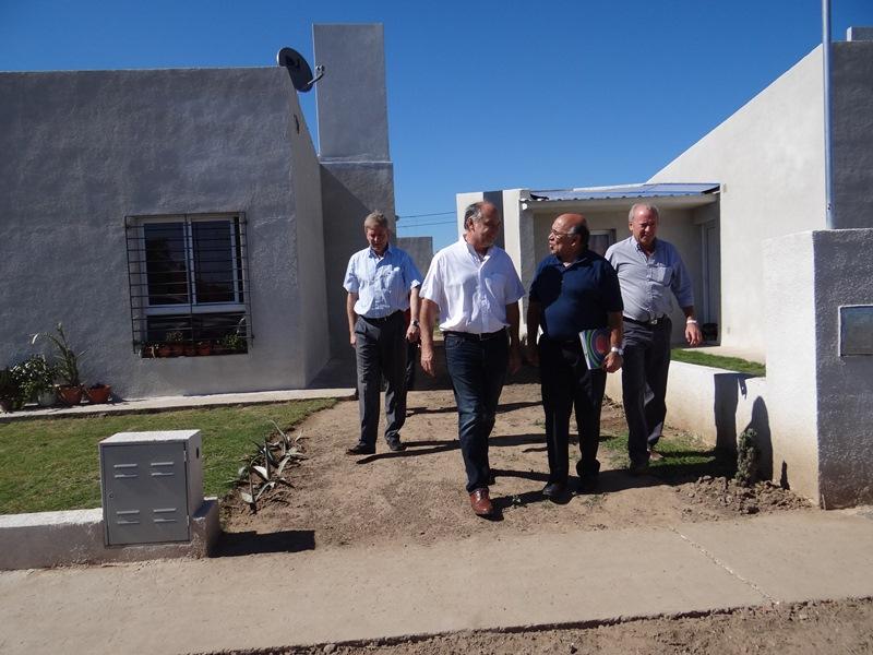 Las viviendas se construyen en el barrio Industrial de Villa María con fondos federales.