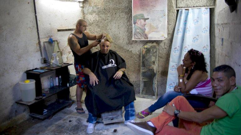 Cuentapropismo. Una peluquería particular en La Habana. Estos negocios se han multiplicado.