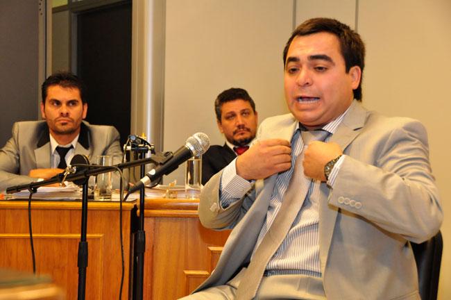 David Edgardo Bravo, Intendente de 25 de Mayo, durante el juicio que lo condenó