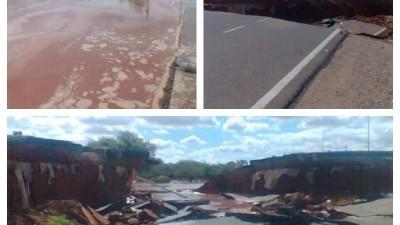 La Rioja: intendente tuvo que destruir una ruta para evitar que se inunde el pueblo