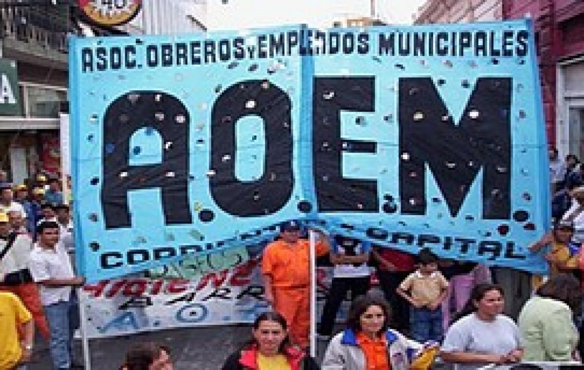 Sólo AOEM podrá asistir a las paritarias comunales
