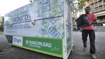 Municipalidad de Córdoba suma más lugares para tirar los residuos tecnológicos