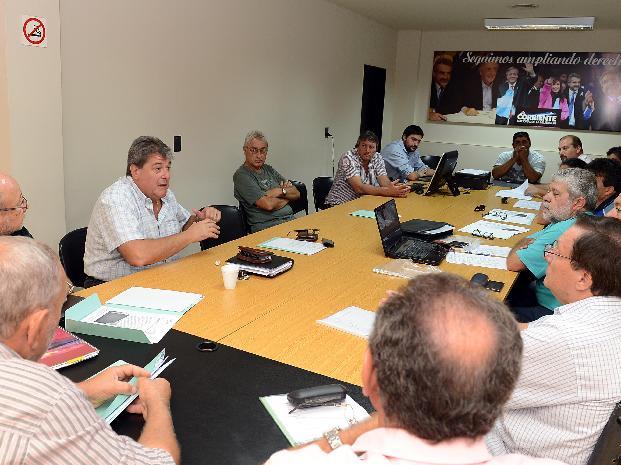 Rubeo estuvo con presidentes comunales y con referentes de la Federación Argentina de Telecomunicaciones