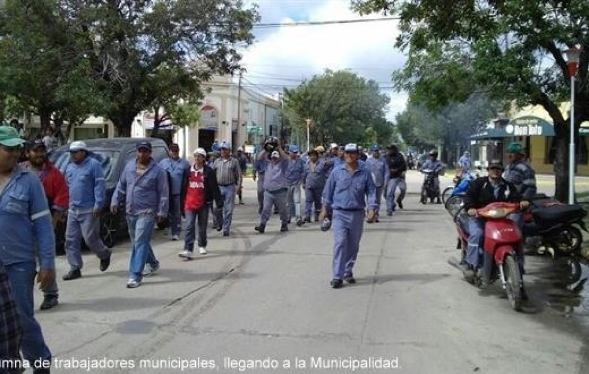 Municipales de Reconquista movilizados por atropello de un funcionario