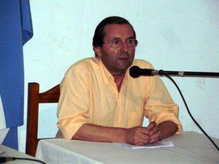 Rodolfo Romero, el jefe comunal de la localidad de Enrique Carbó