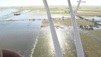 Por desborde del Ctalamochita hay 135 mil hectáreas bajo el agua