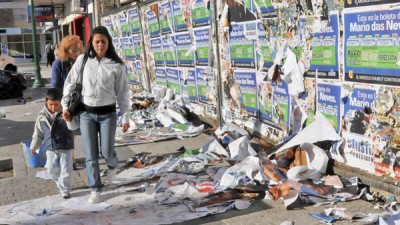 En Frías ponen límite a las pintadas políticas con severas multas