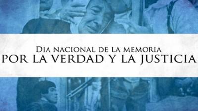 Hoy se conmemora el Día por la Memoria, la Verdad y la Justicia