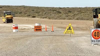 Avanza la ruta interbalnearia entre Puerto Madryn y Rawson