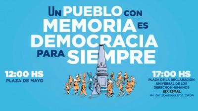 Movilizaciones y actos en todo el país por el Día Nacional de la Memoria por la Verdad y Justicia