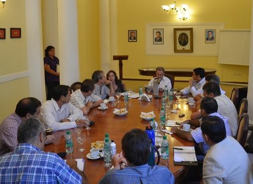 Trece jefes comunales mantuvieron un encuentro con el ministro de Gobierno, Jorge Franco para trabajar en acciones de prevención en materia de seguridad vial.