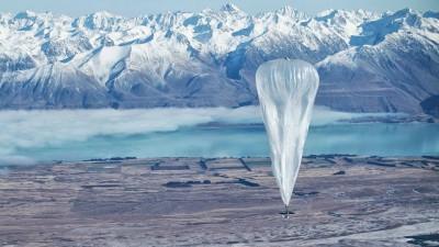 Google hizo descender un globo en Santa Cruz