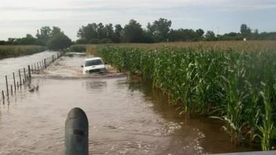 Idiazábal, otro pueblo cordobés afectado por el agua