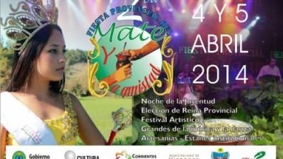 2ª Fiesta Provincial del Mate y la Amistad del 4 al 6 de abril. Gobernador Virasoro