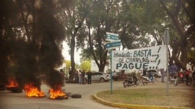Municipales de Río Segundo endurecen protesta por falta de pago de sueldos