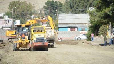 Avanza el programa de pavimentación de las mil cuadras en Comodoro Rivadavia