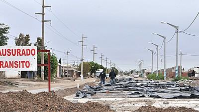 El arreglo de calles en Trelew tras el temporal demandará 10 millones