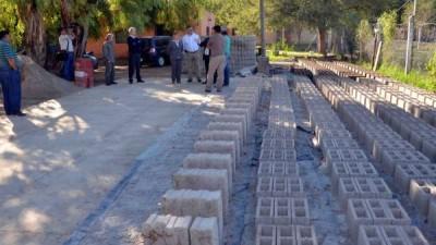 Villa Mercedes: Creció la demanda de blocks fabricados por el Municipio