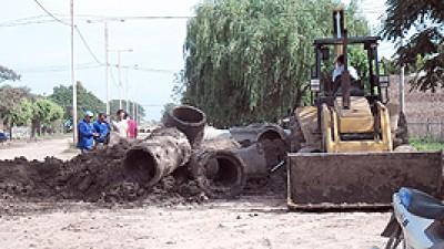 La Municipalidad de Pirané realiza intensos trabajos tras las lluvias