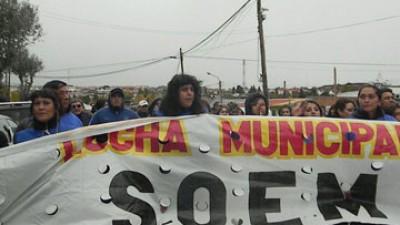 Municipales de Río Turbio y 28 de Noviembre continuarán con sus medidas de fuerza .
