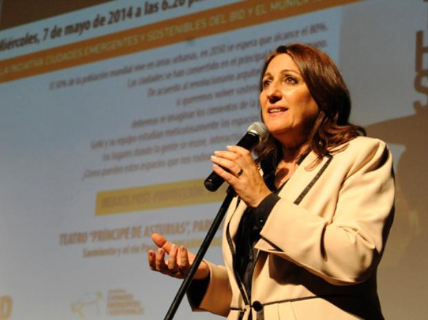Orgullosa. La intendenta dijo que las ciudades latinoamericanas están interesadas en el plan que desarrolló Rosario.