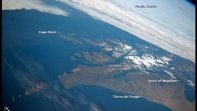 La NASA captó una fotografía de Tierra del Fuego desde el espacio