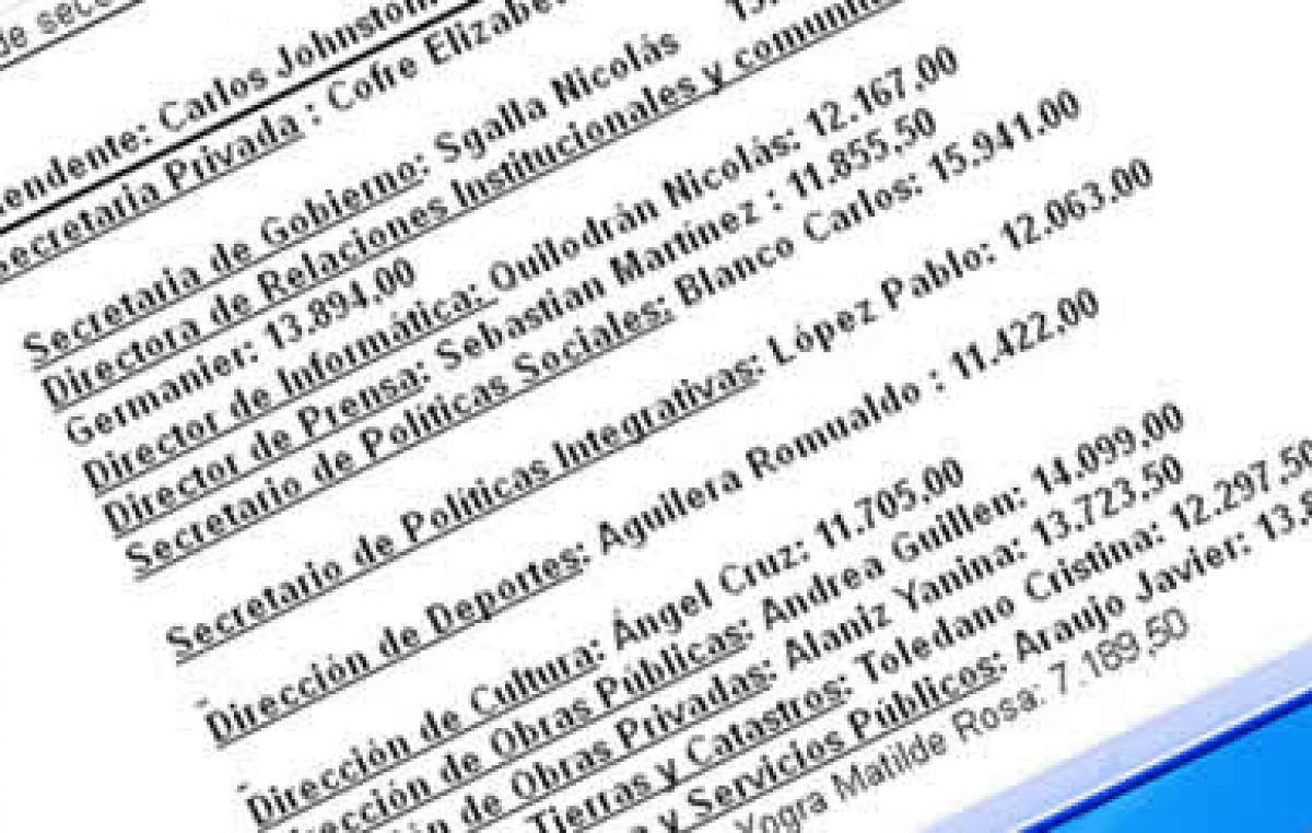 En Catriel difunden sueldos de empleados y funcionarios