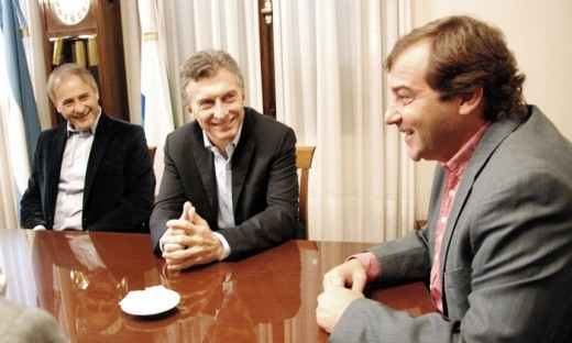 Mauricio Macri visitó ayer en su despacho al intendente de Río Cuarto, Juan Jure.