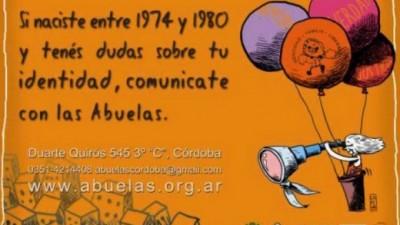 Abuelas lanza campaña de difusión con ayuda de gremios Cordobeses