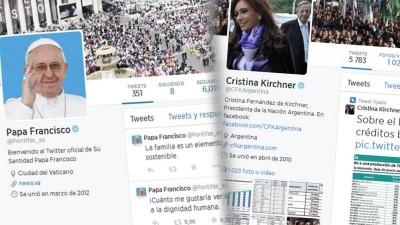 El papa Francisco, el más influyente; y Cristina, la líder Latinoamericana con más seguidores