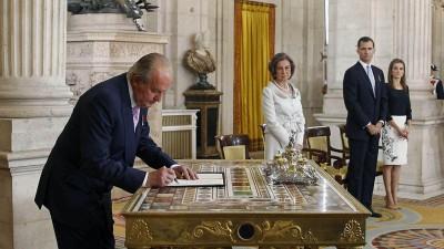 Fin del reinado de Juan Carlos yproclamación deFelipe