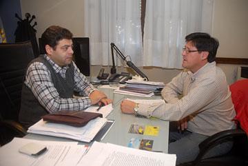 El ministro Martínez se reunió ayer con el legislador Guanes.