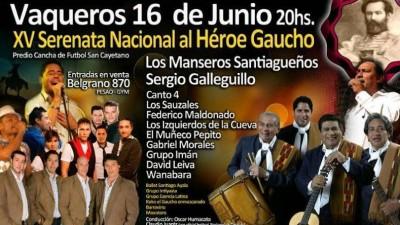 Serenata Nacional al Héroe Gaucho, 16 de junio, Vaqueros