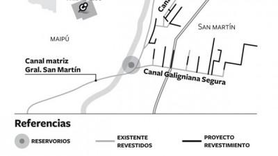 Construirán en Mendoza tres grandes reservorios de agua