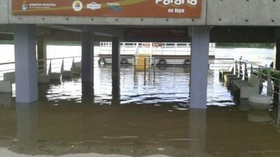 El río superó el nivel de evacuación en Paraná