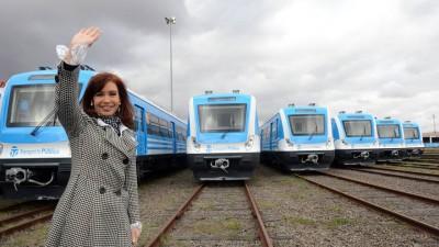 Cristina aseguró que desde hoy podrán viajar 400.000 pasajeros en el ferrocarril Sarmiento