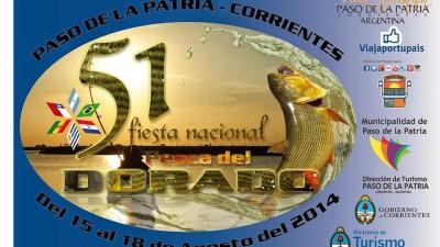 Fiesta Nacional del Dorado, Paso de la Patria, del 15 al 18 de agosto