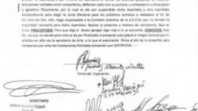Corrientes: Tras escandalosa asamblea, la AOEM podría quedar acéfala