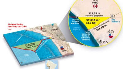 Resurgió la tensión limítrofe entre Chile y Perú por un mapa que difundió Lima