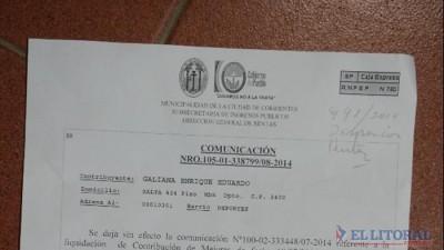 Tasa por mejoras: la Justicia suspendió el cobro y hoy notifican a la Comuna de Corrientes