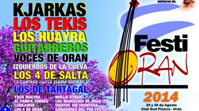 29 y 30 agosto, Festi Orán 2014