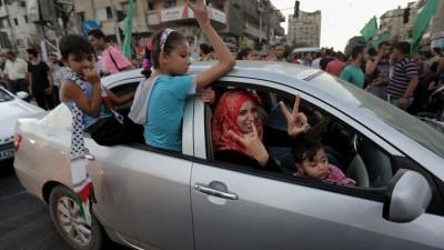 Gaza celebra en las calles la tregua de Israel y Hamas
