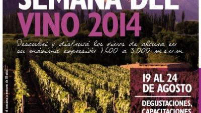 Semana del Vino de altura, Salta, del 19 al 24 de agosto