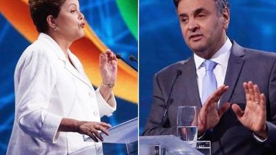 Por primera vez, los sondeos dan a Dilma Rousseff al frente de Neves