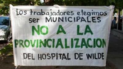 Siguen los cruces por la posible provincialización del hospital de Wilde