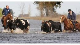 Inundaciones: CFK sale al rescate de 27 comunas Bonaerenses y firma convenios para obras por más de 100 millones