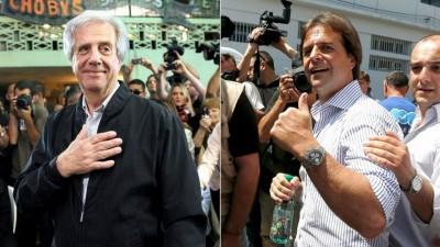 Tabaré Vázquez y Lacalle Pou, de cara al balotaje del domingo