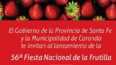 56ª Fiesta Nacional de la Frutilla, del 7 al 9 de noviembre en Coronda
