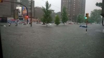 Montevideo tuvo la mayor tormenta de los últimos 50 años