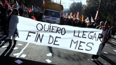 En España acuerdan con sindicatos una ayuda a desocupados